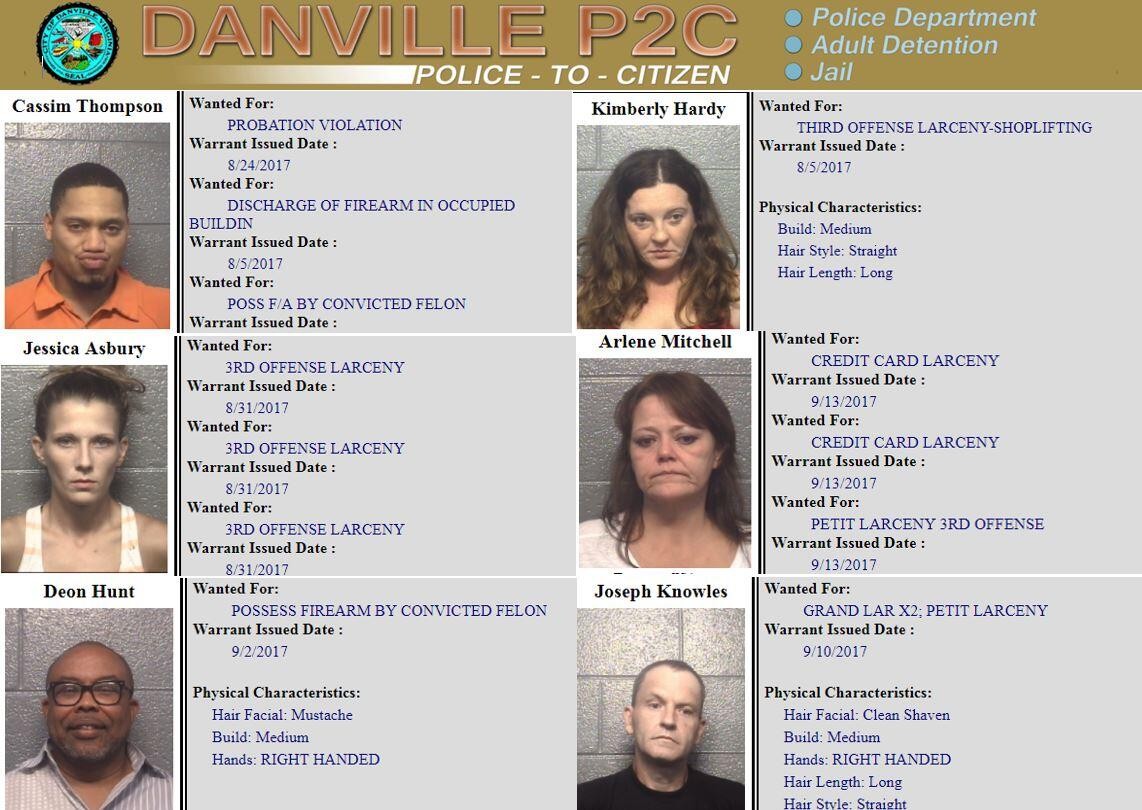 DanvillePD's Most Wanted                (City of Danville Police