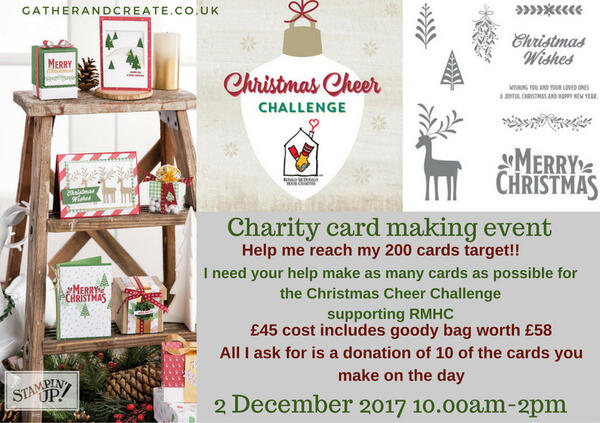 christmas cheer charity card making event