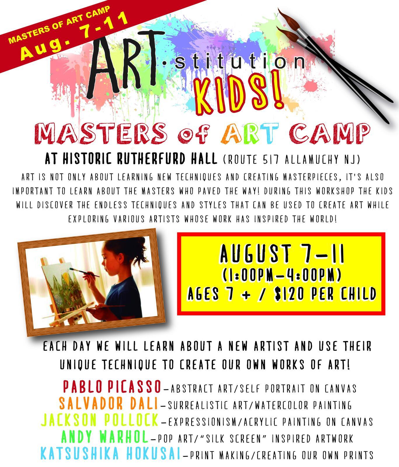 Aug 7 · Kids Art Camp at Rutherfurd Hall — Nextdoor