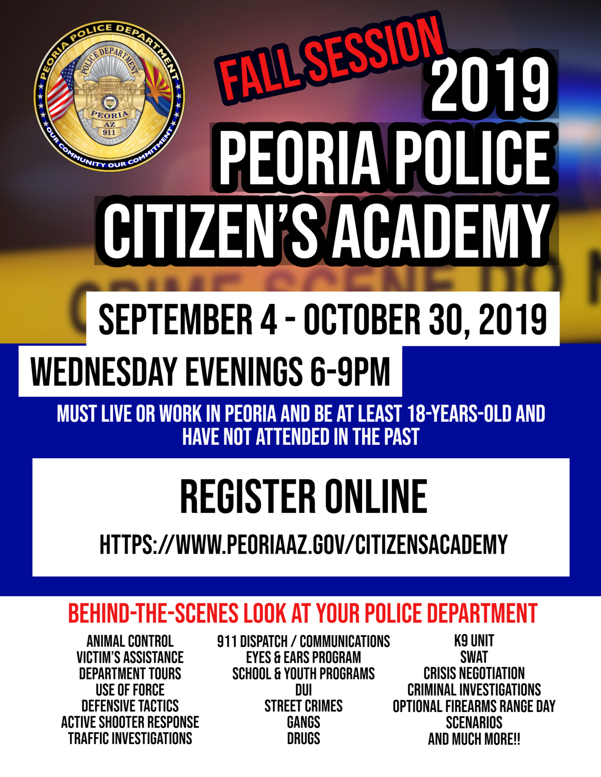 Peoria Police Offer Fall Citizen's Police Academy (Peoria