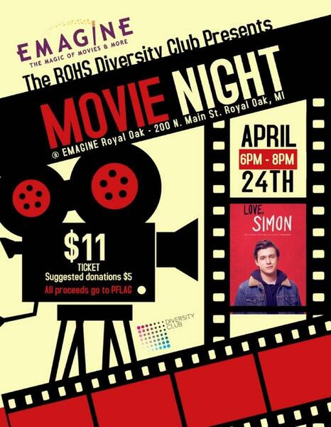 Apr 24 · DC Movie Night : Special Showing of Love, Simon