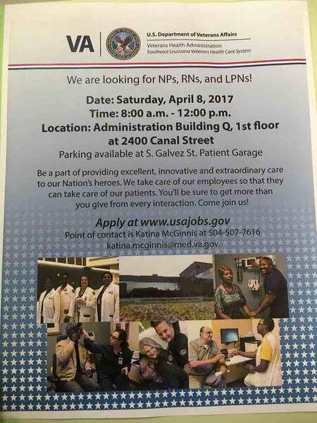Apr 8 · VA Medical Center Job Fair — Nextdoor