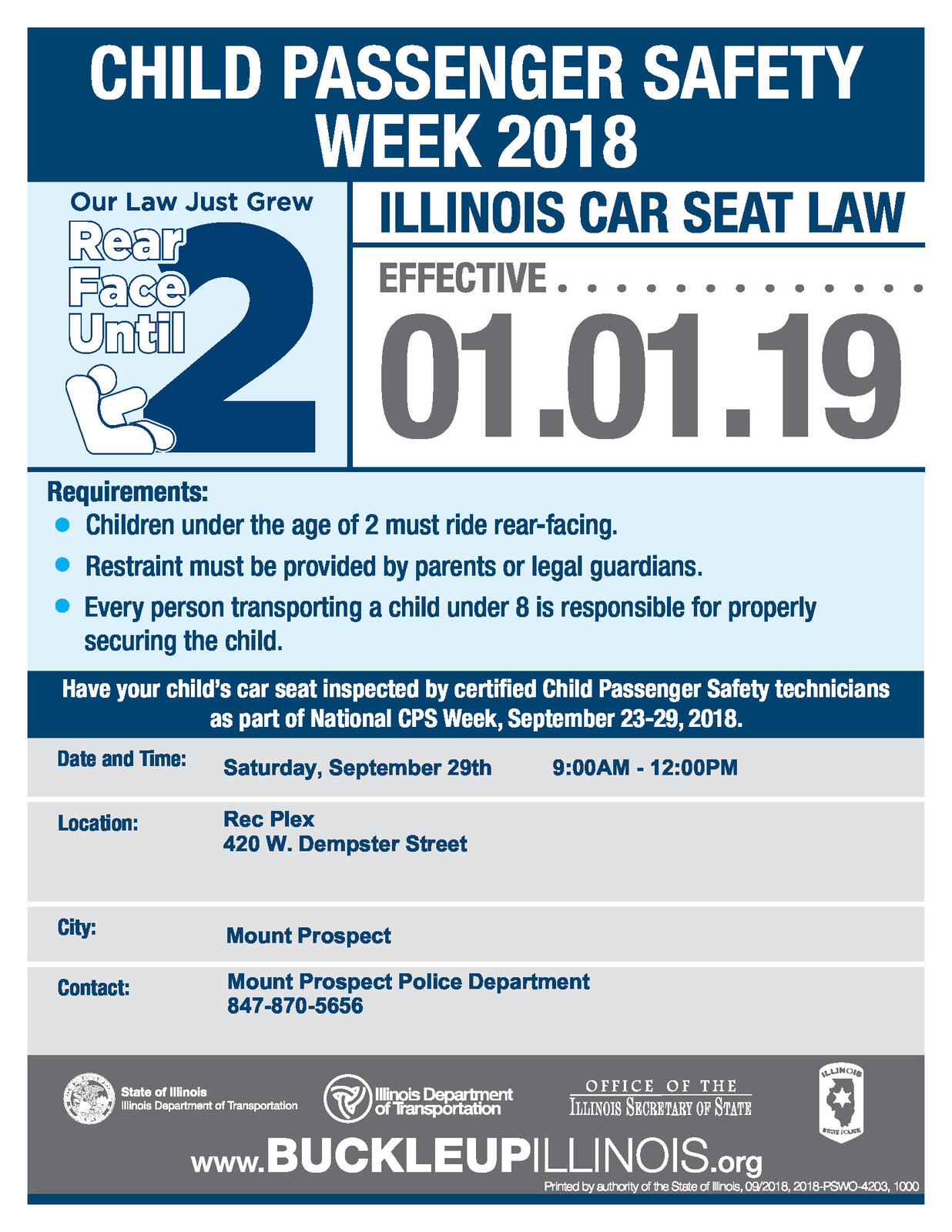 FREE Child Seat Check Event
