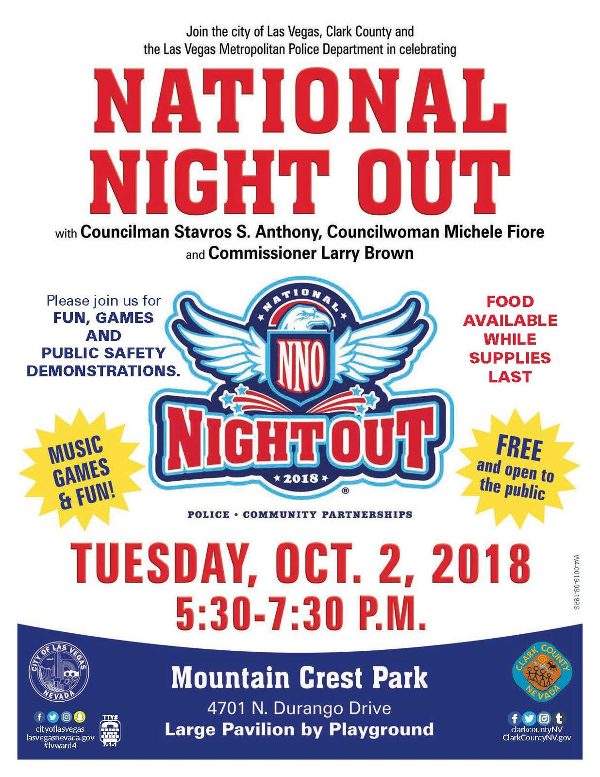 Friendly Reminder: National Night Out is Tuesday, Oct  2