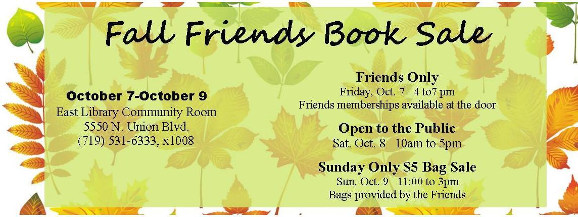 Oct 7 Friends Members Book Sale At The East Library Nextdoor