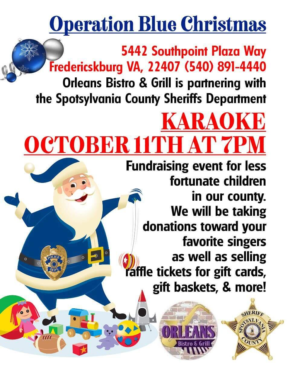 karaoke night in support of operation blue christmas spotsylvania sheriffs office nextdoor - Blue Christmas Karaoke