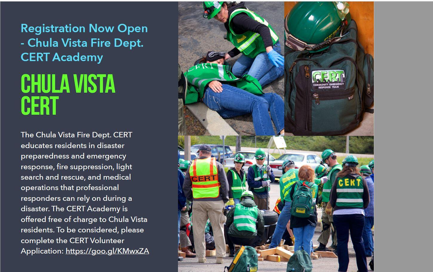 Registration open for the CERT Academy ( Citizen Emergency