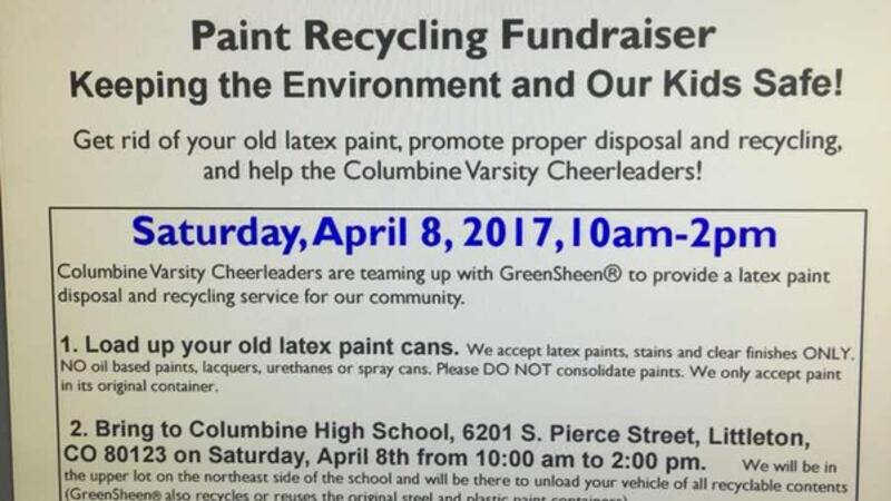 Apr 8 · Paint Recycle Fundraiser for Columbine Varsity