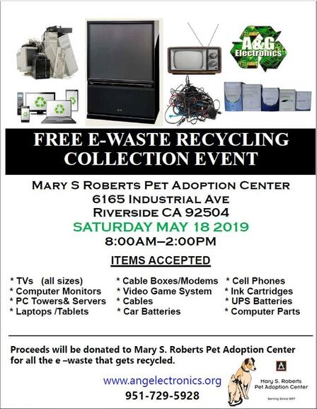 May 18 · Free E-Waste Recycling Event to Benefit the Mary S