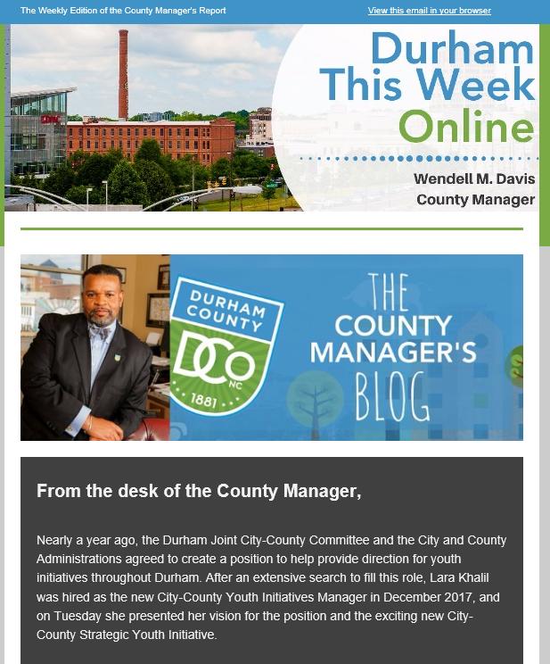 Durham This Week Online Durham County Government Nextdoor