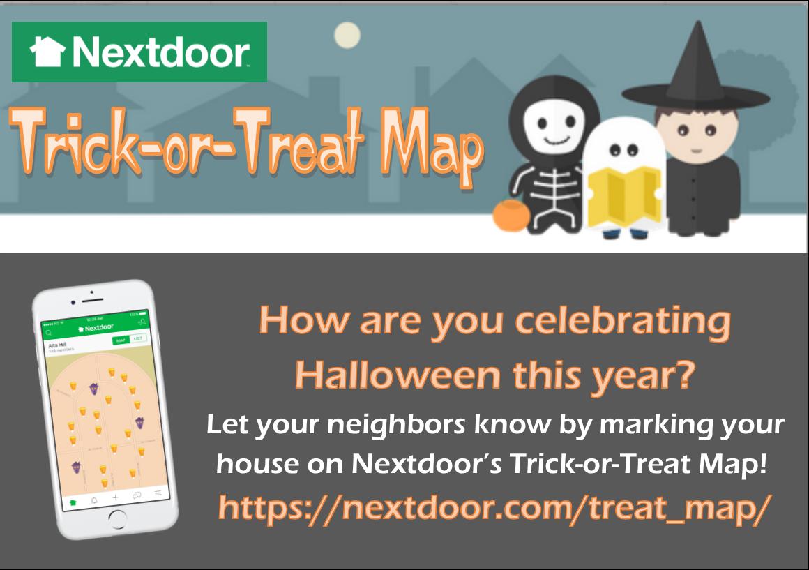 Take The Trick Out Of Halloween With The Nextdoor Trick Or Treat Map City Of Melissa Mdash Nextdoor Nextdoor