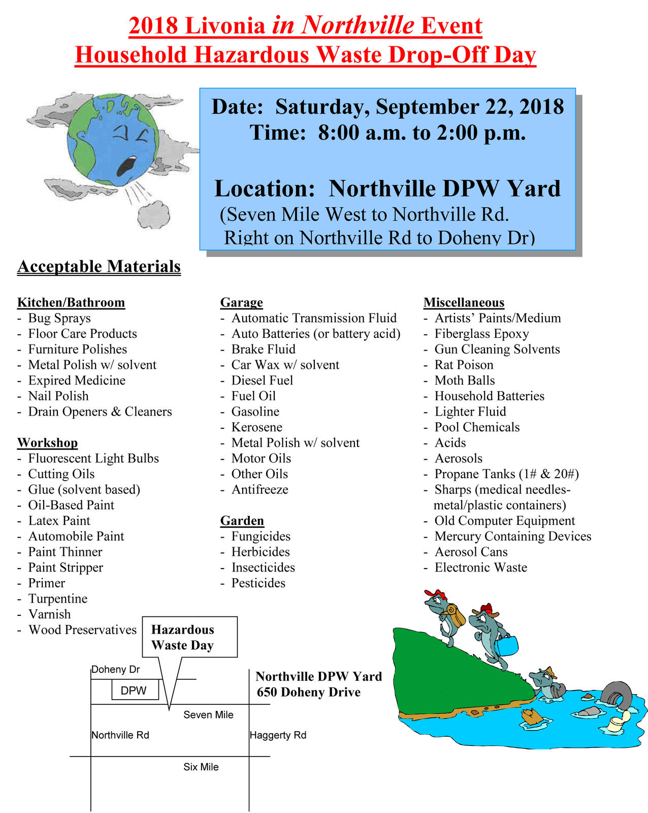 Recycling, Household Hazardous Waste Day and Document Shredding/Tire