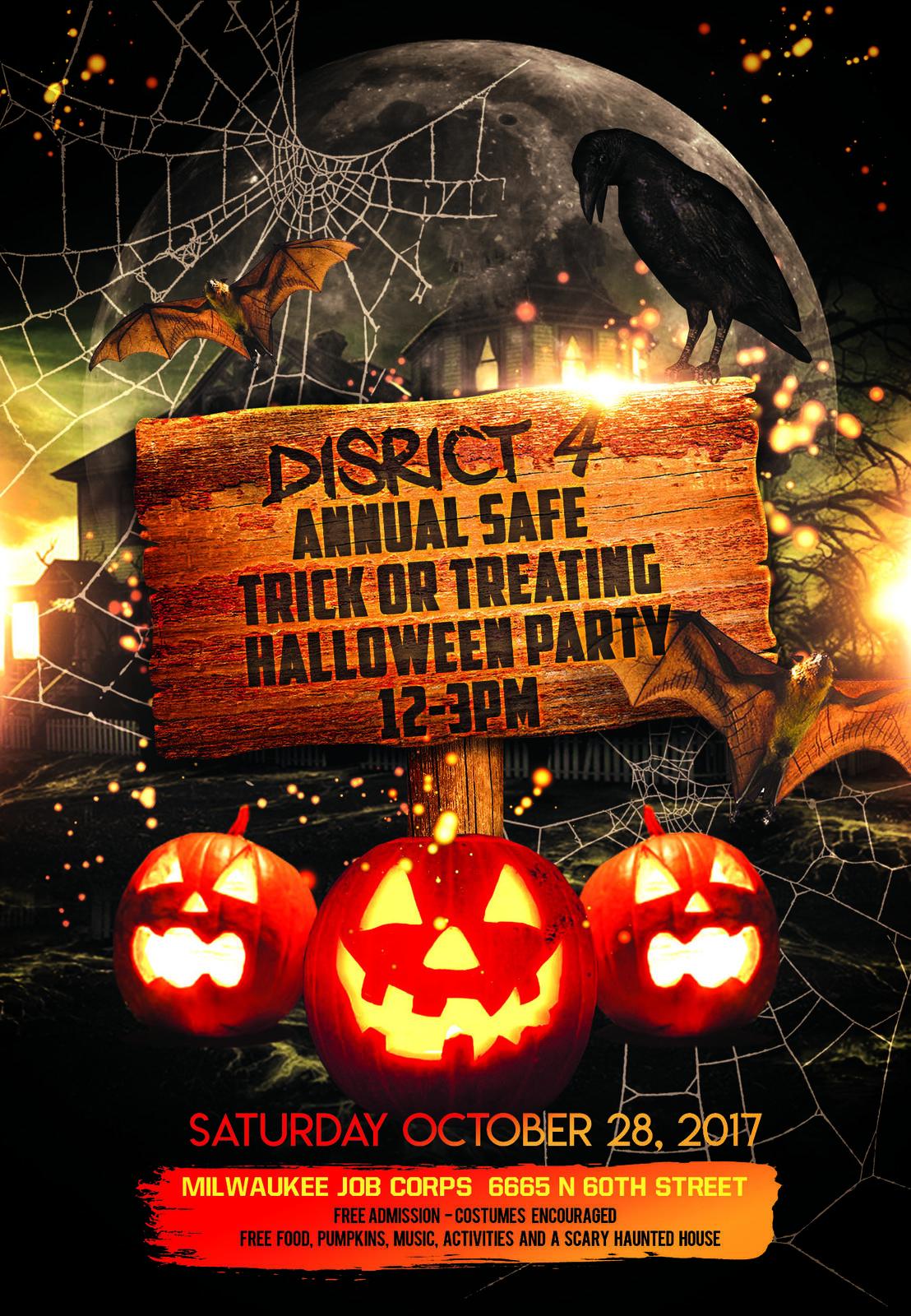 district fours annual halloween event milwaukee police department nextdoor