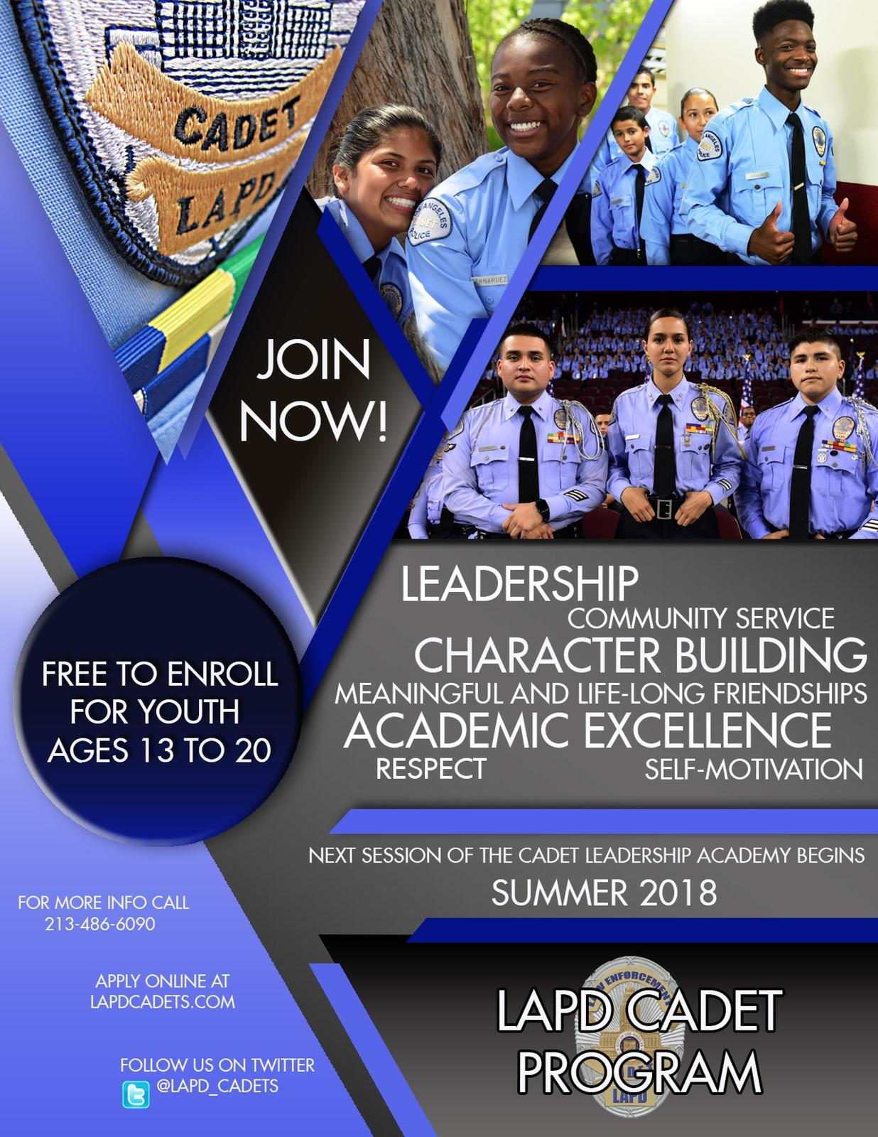 LAPD CADET PROGRAM (Los Angeles Police Department) &mdash