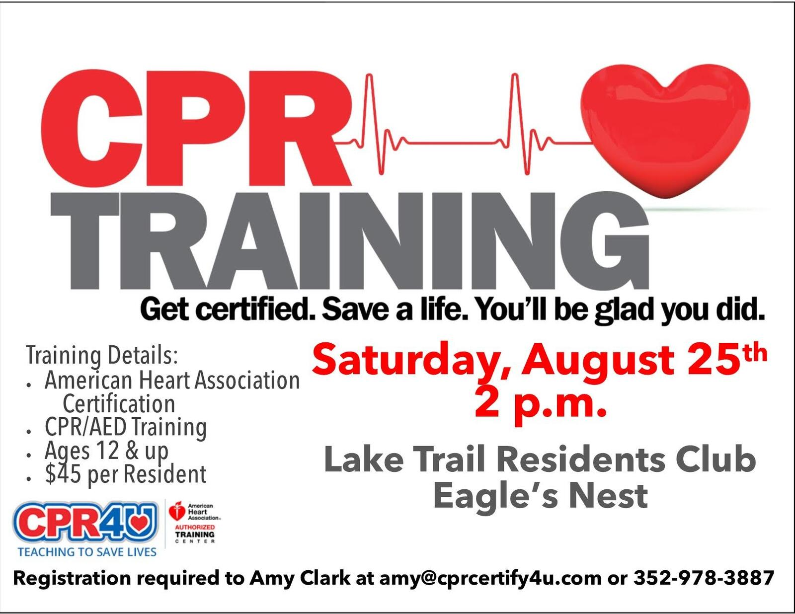 Aug 25 Cpr Training American Heart Association Certification