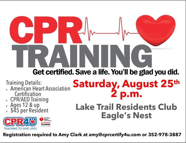 Aug 25 · CPR Training - American Heart Association Certification ...