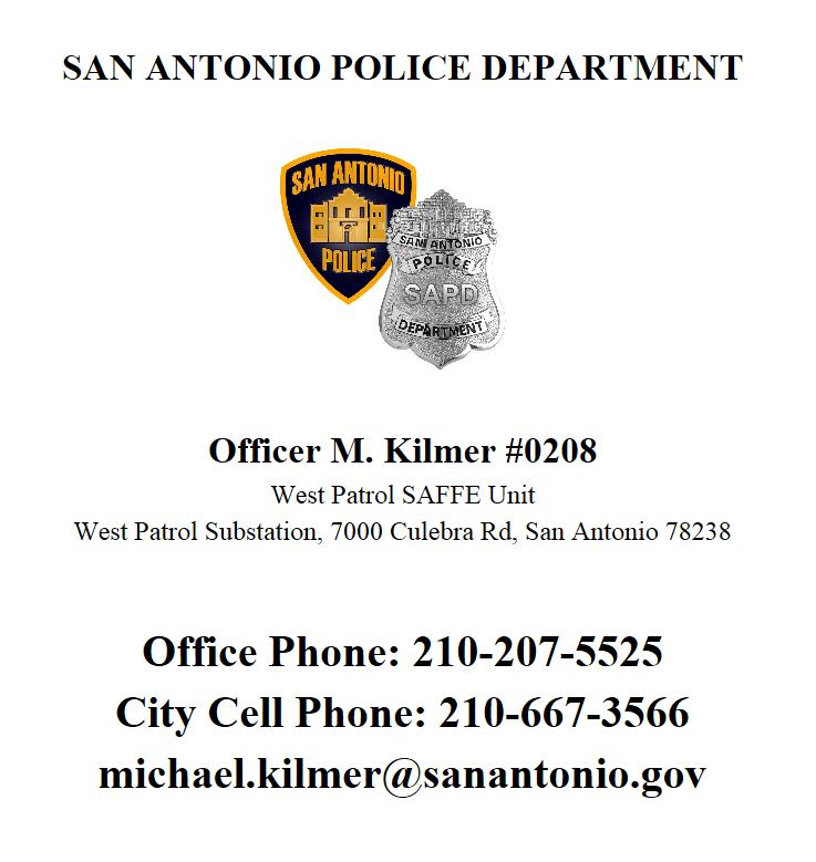 Your SAFFE Officer (San Antonio Police Department) &mdash