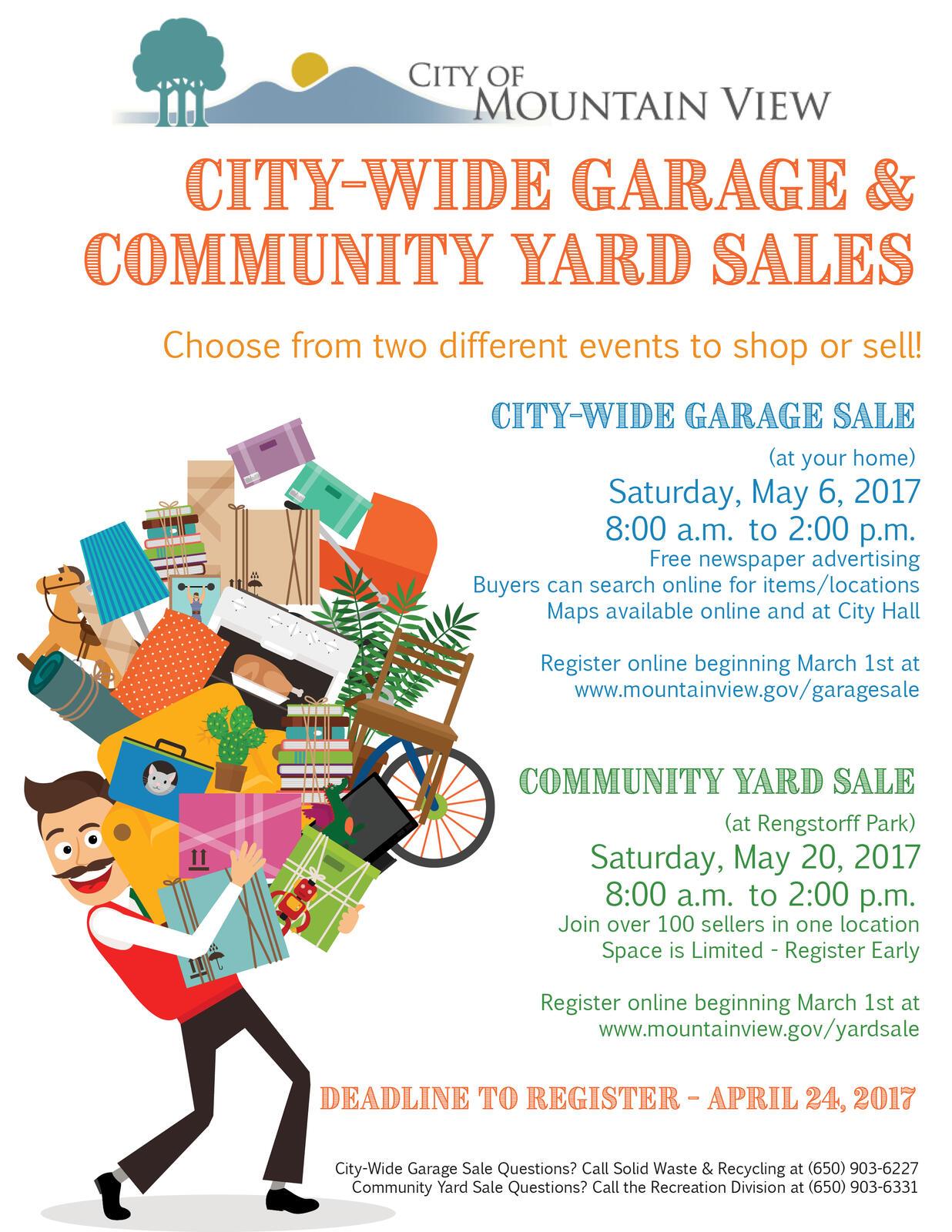 city wide garage sale community yard sale registration begins