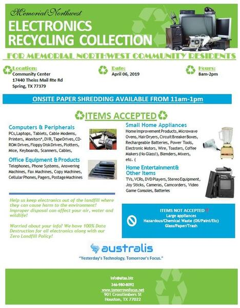 Apr 6 · Electronic Recycling Collection Event — Nextdoor