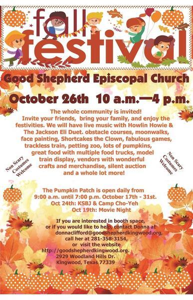 Oct 26 · Good Shepherd Episcopal Church Fall Festival — Nextdoor