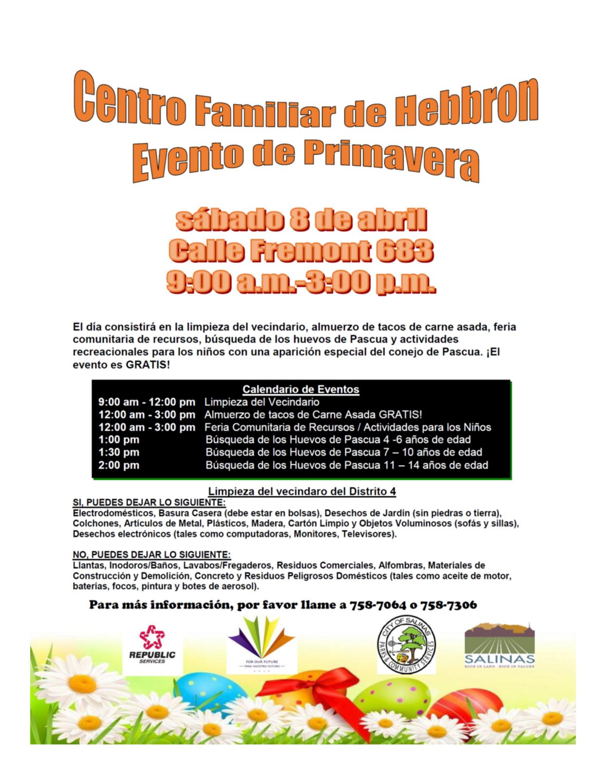 district 4 neighborhood clean up hebbron family center spring event city of salinas nextdoor electrodomesticos - Electrodomesticos Pascua