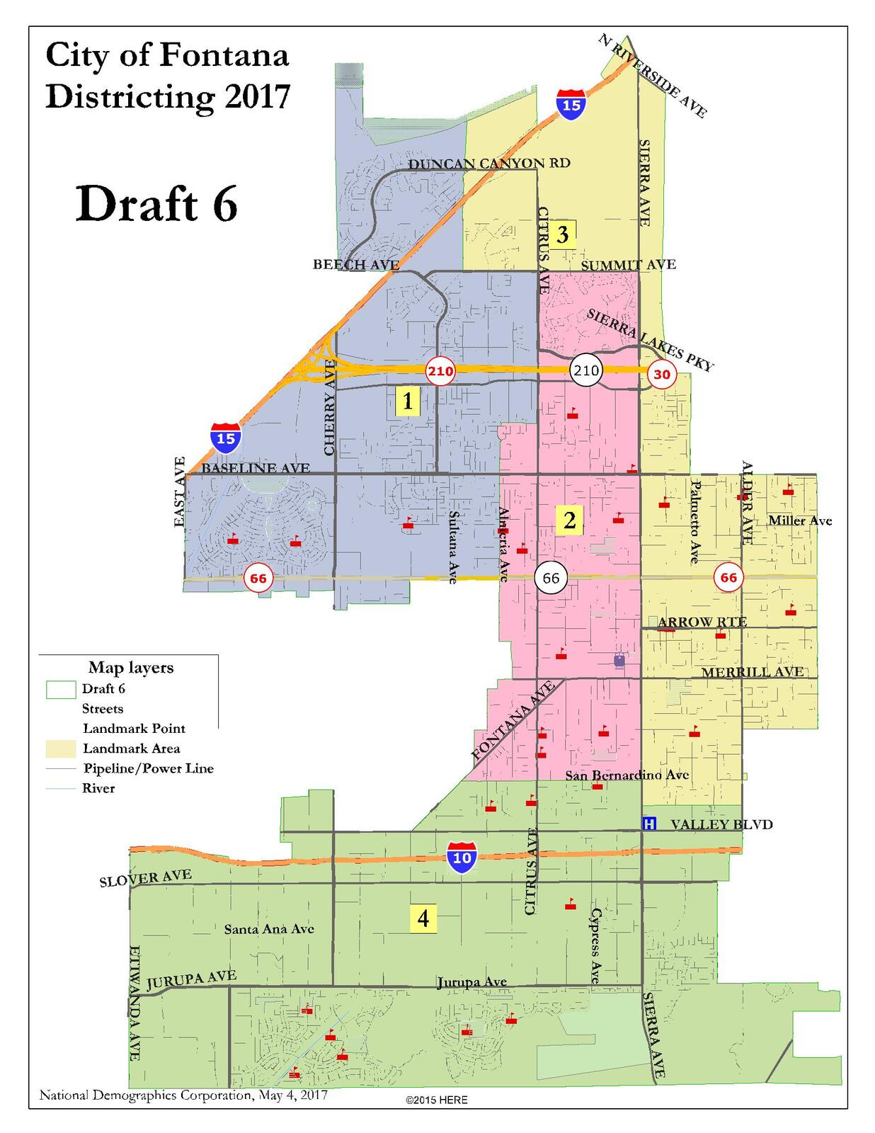 Fontana City Council Selects District Map City of Fontana Nextdoor