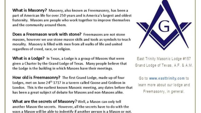 May 27 · East Trinity Masonic Lodge - Open House — Nextdoor