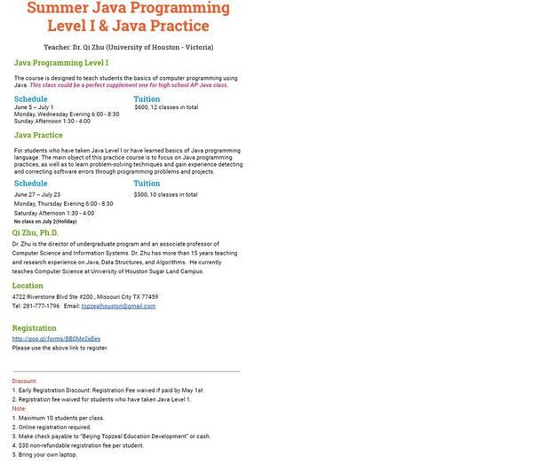 Jun 5 · Java programming course — Nextdoor