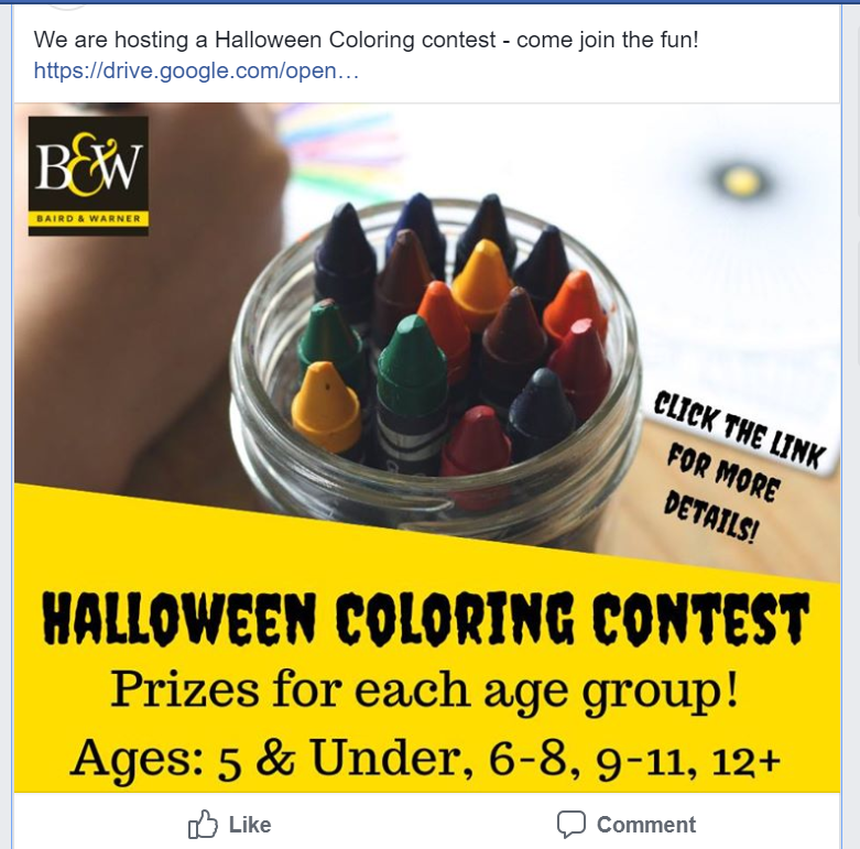 oct 4 halloween coloring contest prizes in all categories nextdoor