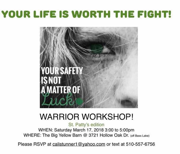 Mar 17 · Warrior Workshop! — Nextdoor
