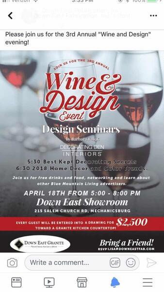 Apr 18 · Wine and Design evening — Nextdoor