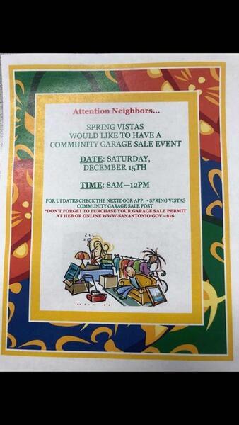 Dec 15 Community Garage Sale Nextdoor