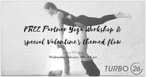 Feb 14 Free Valentine S Day Yoga At Turbo 26 Studio In Palo Alto