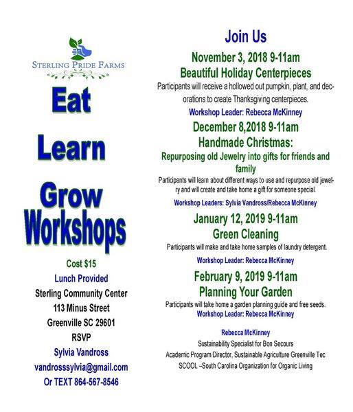 Dec 8 · Sterling Pride Farms | Eat Learn Grow Workshops