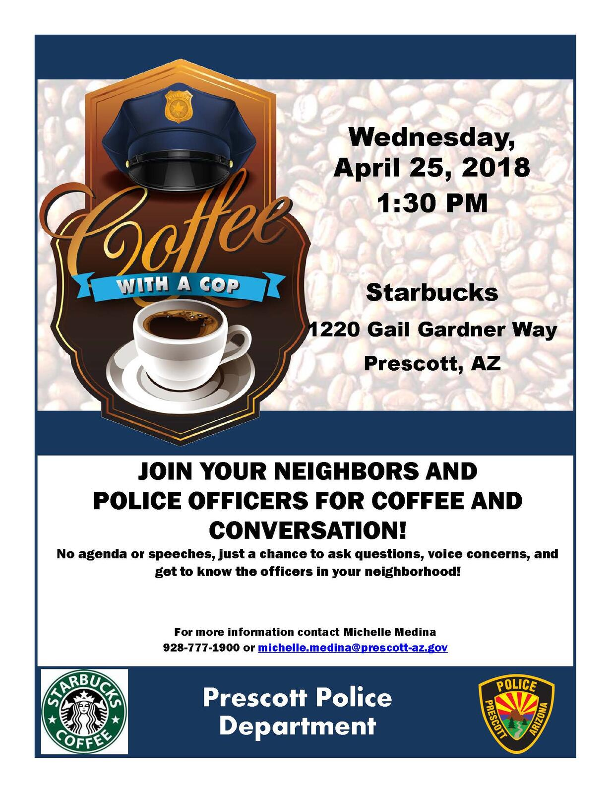 Coffee With A Cop (Prescott Police Department) &mdash