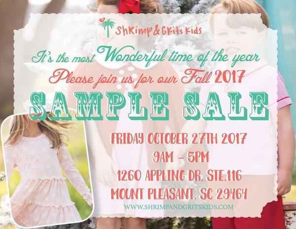 60eeb96ceaa4 Oct 27 · Shrimp & Grits Kids Children's Clothing Sample Sale! — Nextdoor