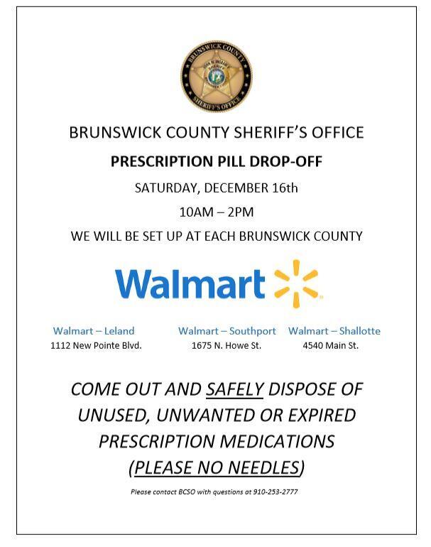 medication drop off day brunswick county sheriffs office nextdoor