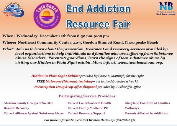 Dec 12 · End Addiction Community Resource Fair — Nextdoor