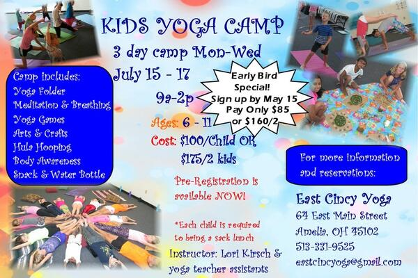 Jul 15 · Kids 3 day Yoga Camp — Nextdoor