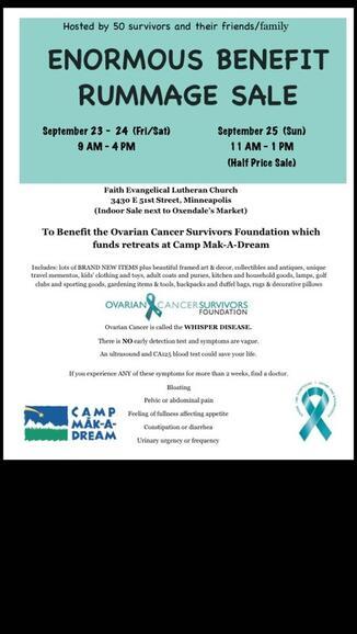 Sep 23 Ovarian Cancer Survivors Foundation Rummage Sale Nextdoor
