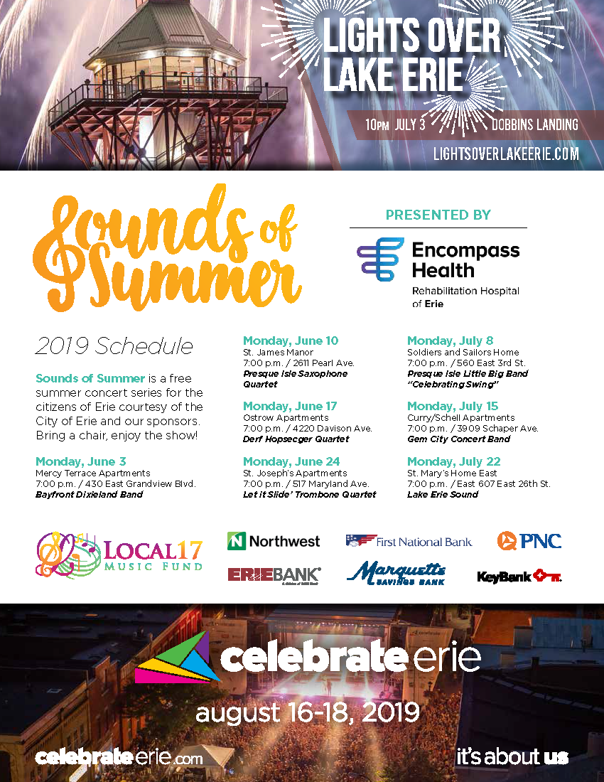 2019 Summer Parks and Recreation Guide (City of Erie) &mdash