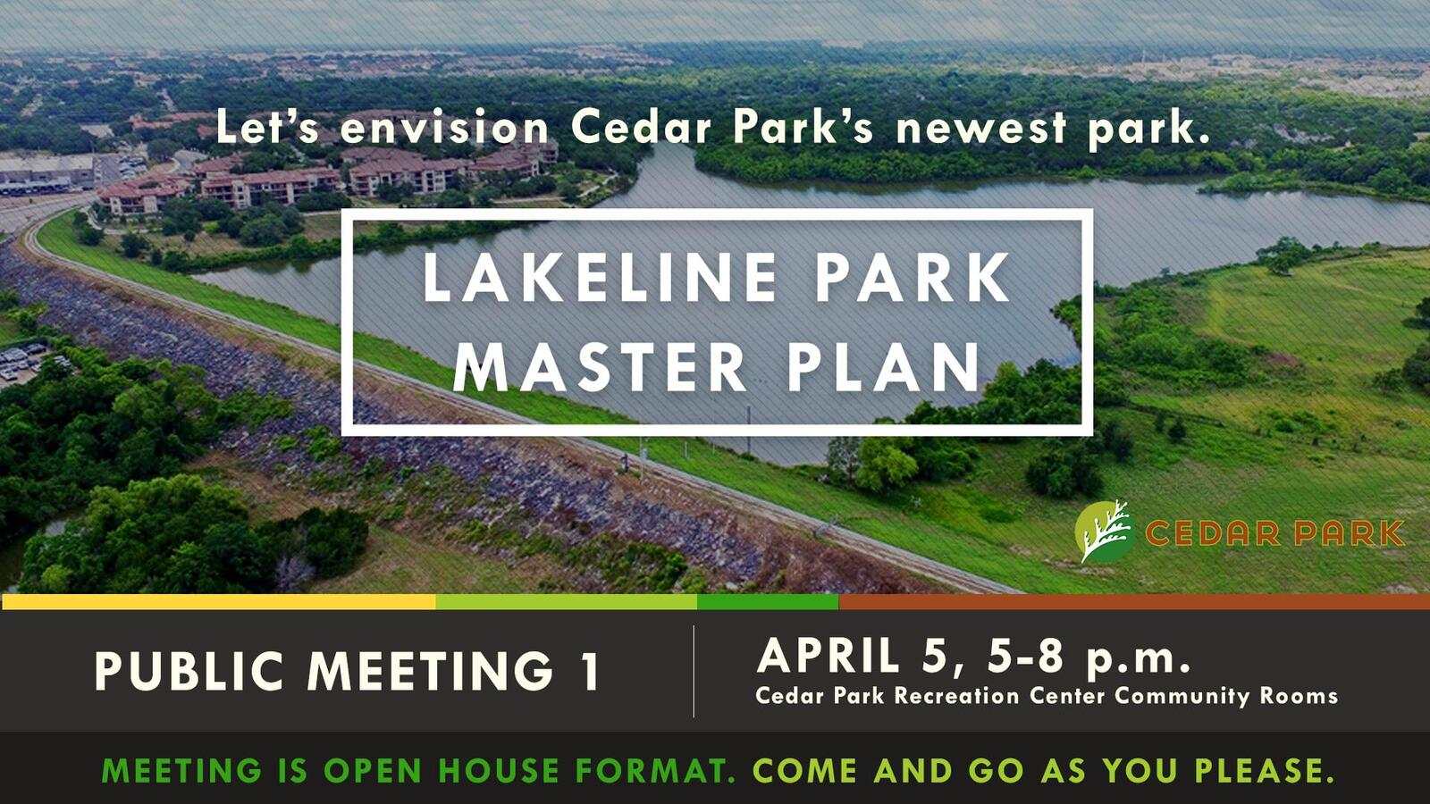 Tomorrow April 5 Lets Envision Cedar Parks Newest Largest Park