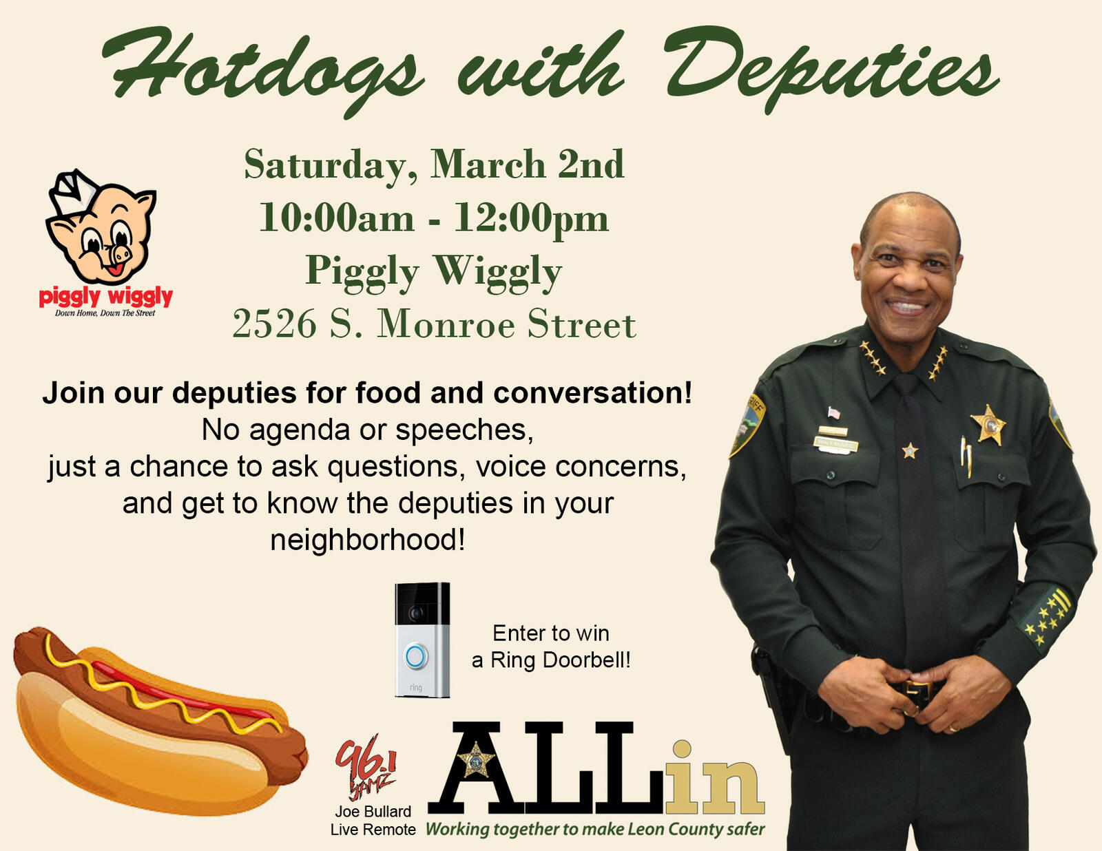 LCSO Hosts Hotdogs With Deputies Event (Leon County Sheriffs