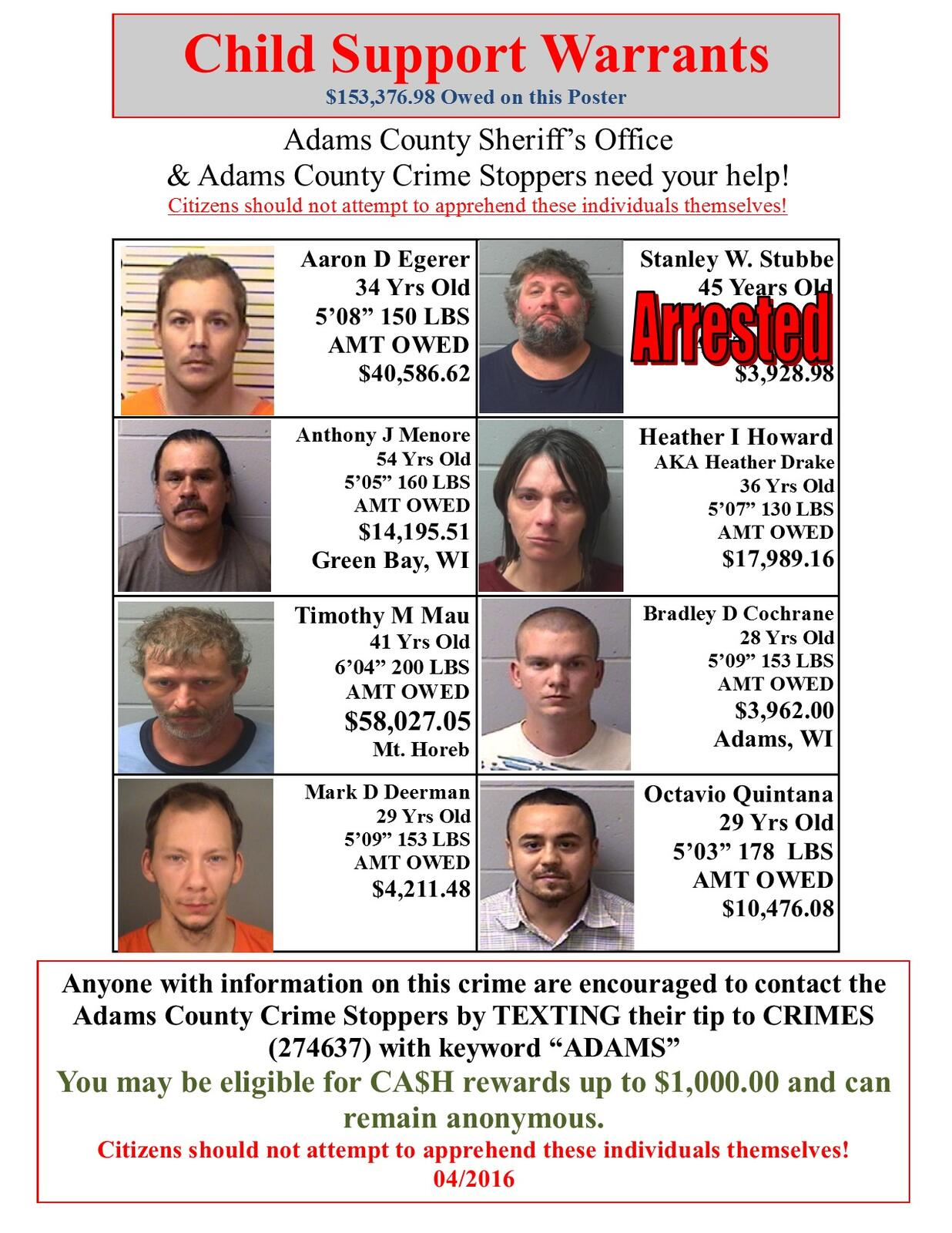 one off of the poster (Adams County Sheriff's Office) &mdash