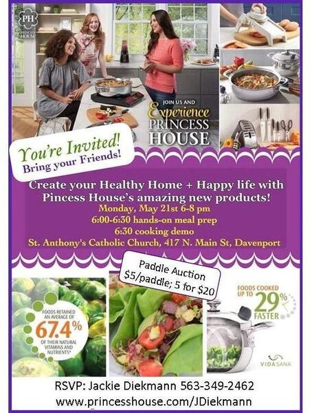 May 21 Princess House Cooking Demo Create Your Healthy Home