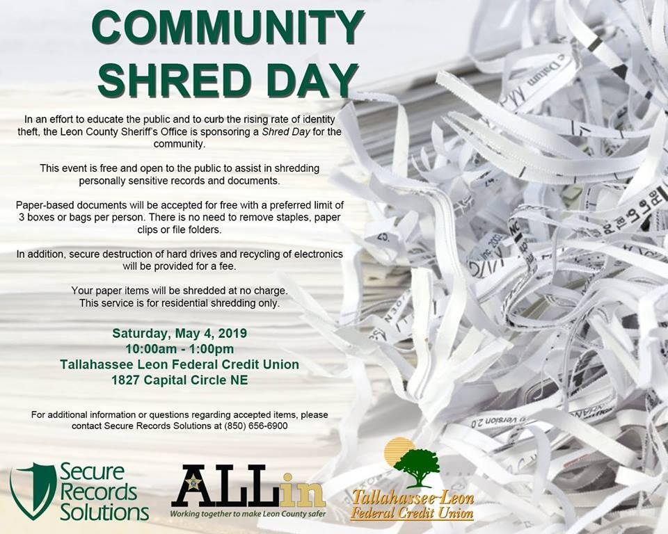Mark Your Calendar Shred Day On Saturday-May 4, 2019 — Nextdoor