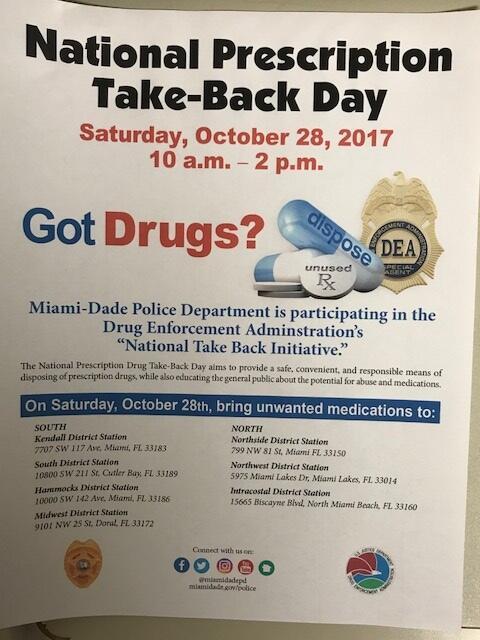 National Prescription Take-Back Day (Miami-Dade Police