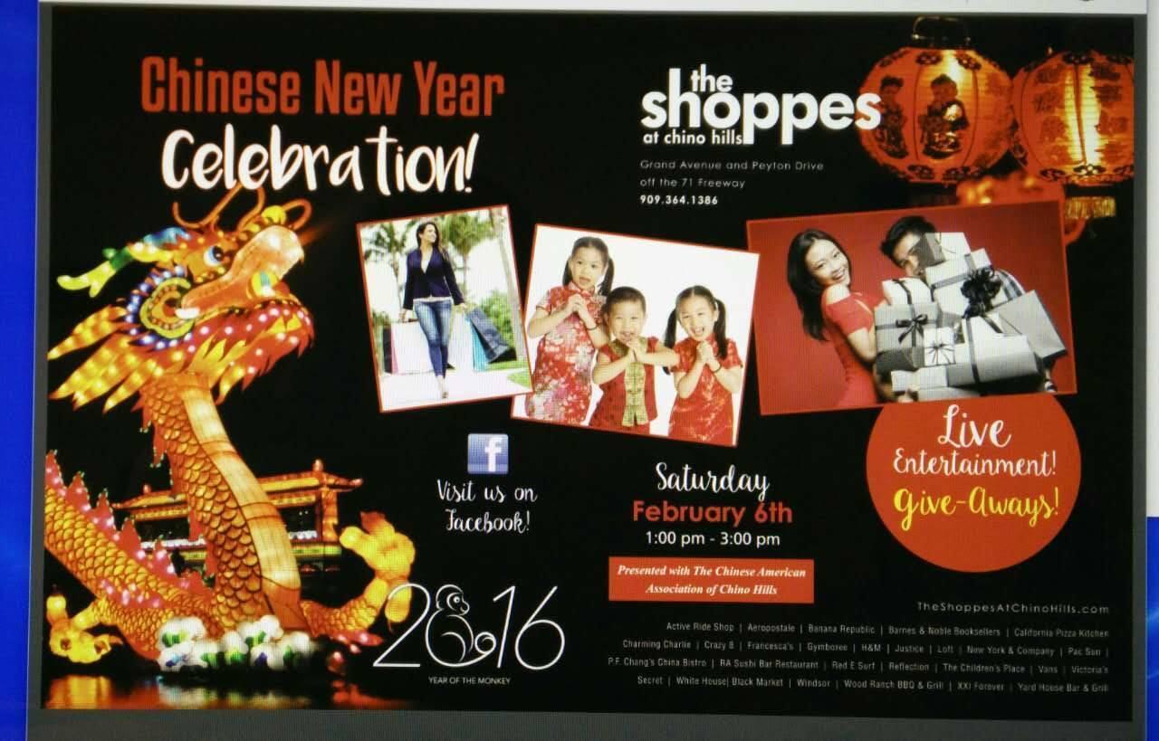 6560a9f7b39 Feb 6 · The Shoppes at Chino Hills - Chinese New Year Celebration 2016 —  Nextdoor