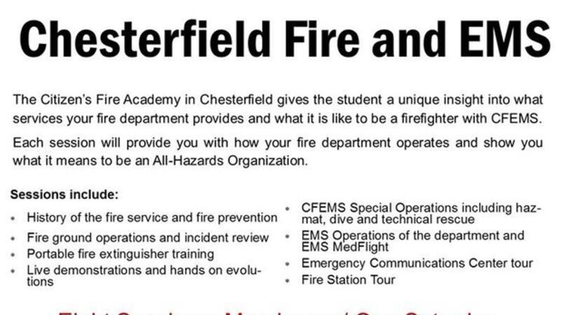 Apr 9 · Chesterfield Fire Citizens Academy — Nextdoor