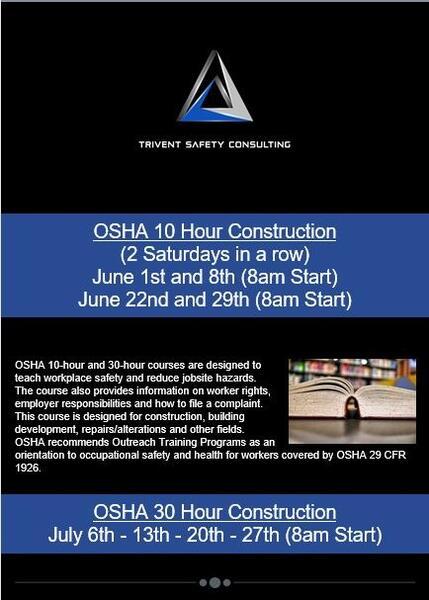 Jun 1 · SPANISH OSHA 10 & 30 Classes — Nextdoor